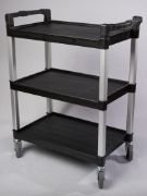 Catering Service and Multi-Purpose Cart Black